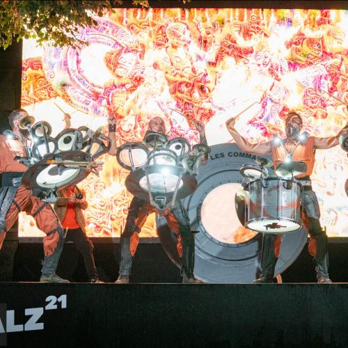 Les Commandos Percu bei der Eröffnung des SILBERSALZ Festival 2021 |credit: Joachim Blobel